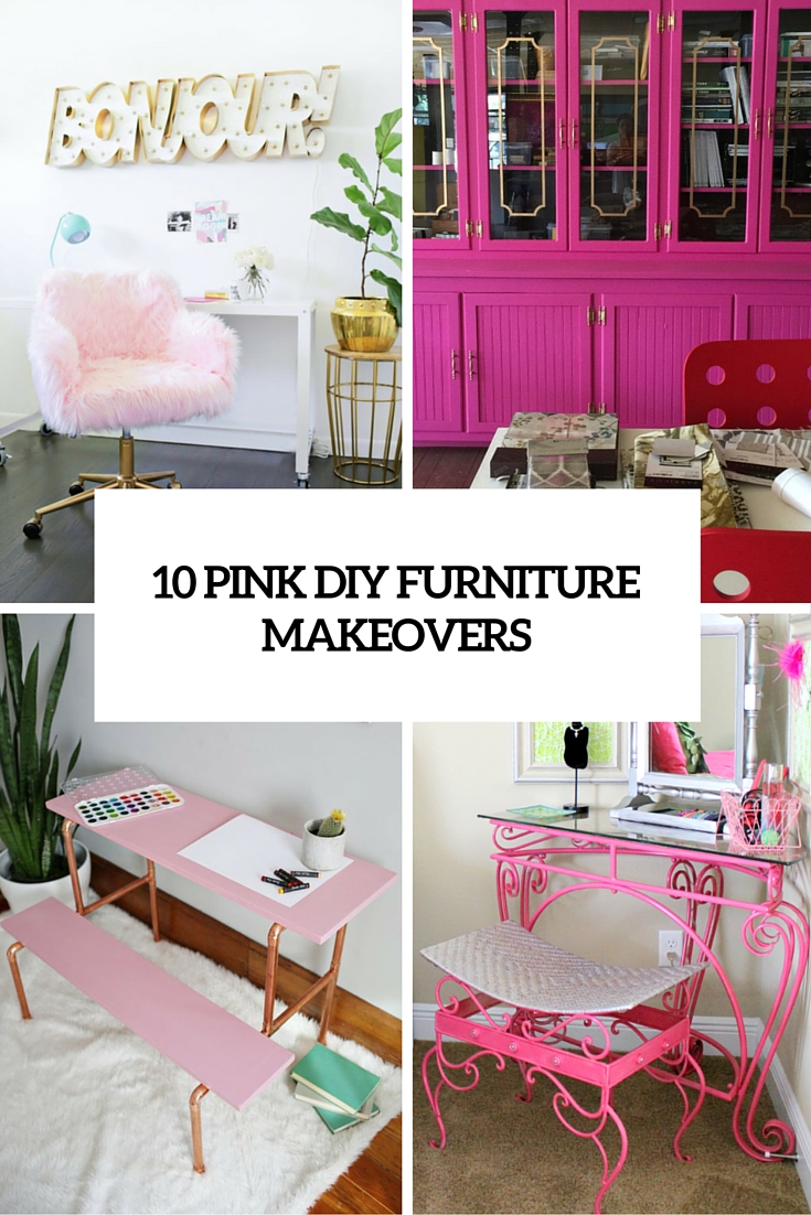 10 pink diy furniture makeovers cover