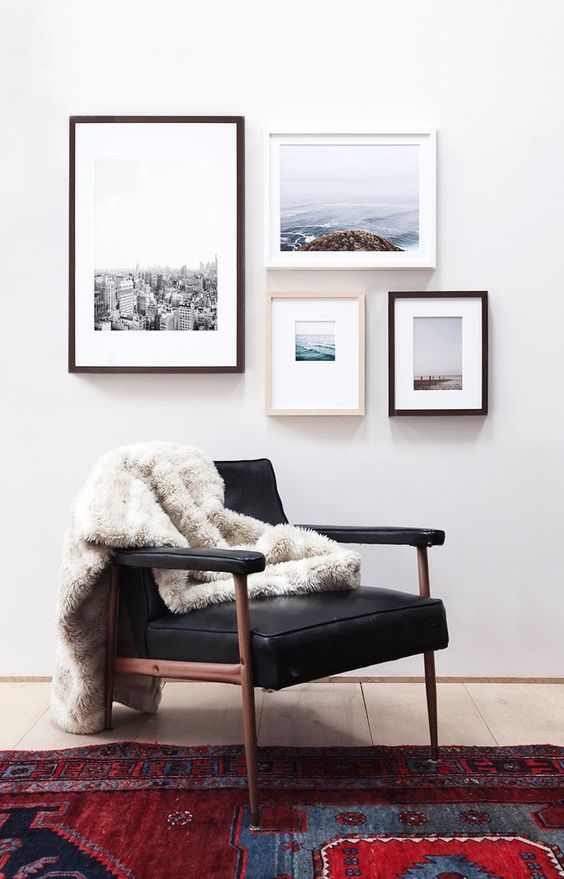 31 modern photo gallery wall ideas shelterness for Modern artwork for home