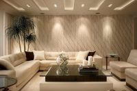 13 white coffered basement ceiling