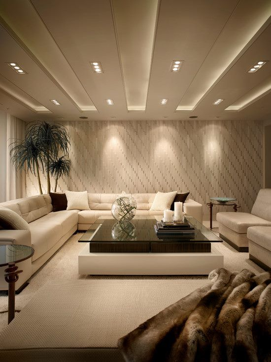 white coffered basement ceiling