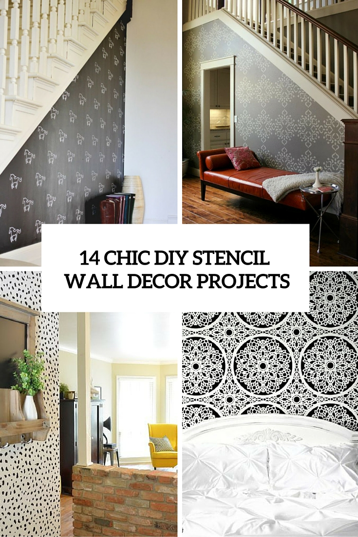 14 Stylish DIY Stencil Wall Dcor Projects Shelterness