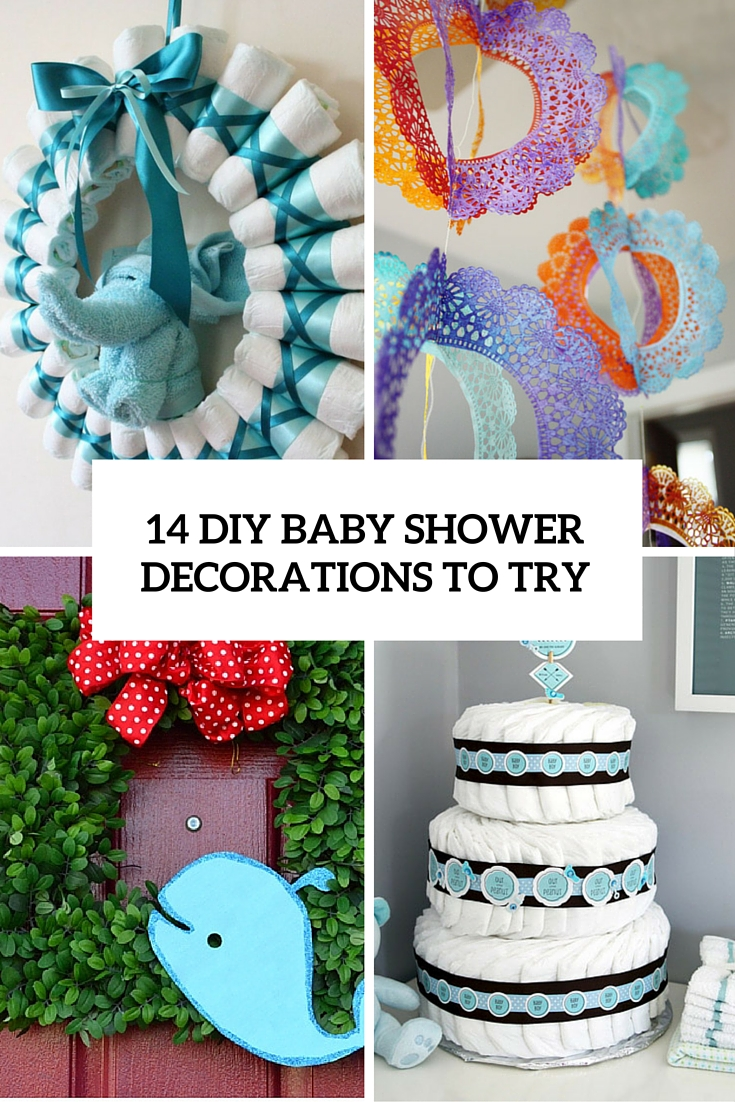 14 cutest diy baby shower decorations to try shelterness for Baby shower decoration online