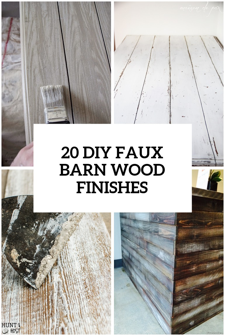 14 DIY Faux Barn Wood Finishes For Any Type Of Wood