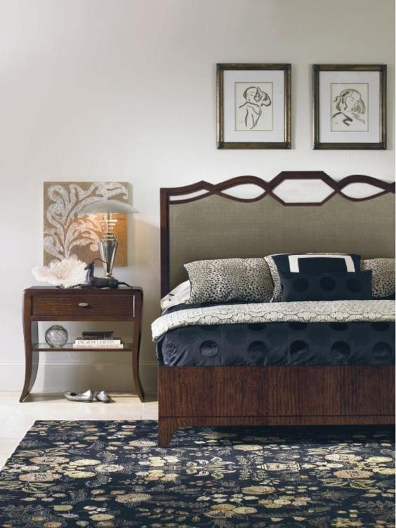 vignette framed upholstered headboard