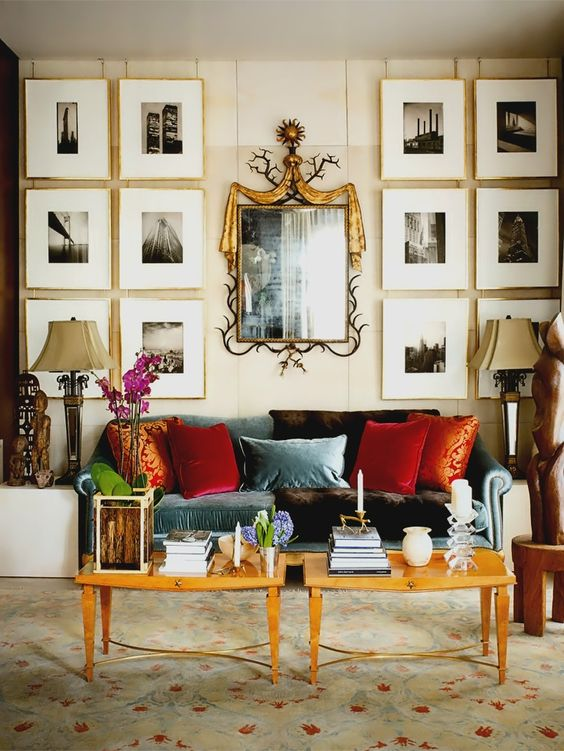 gallery wall idea with minimalist frames and beautiful photos