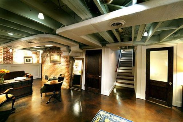 36 practical and stylish basement ceiling d cor ideas shelterness. Black Bedroom Furniture Sets. Home Design Ideas