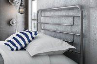 25 minimalist grey metal headboard