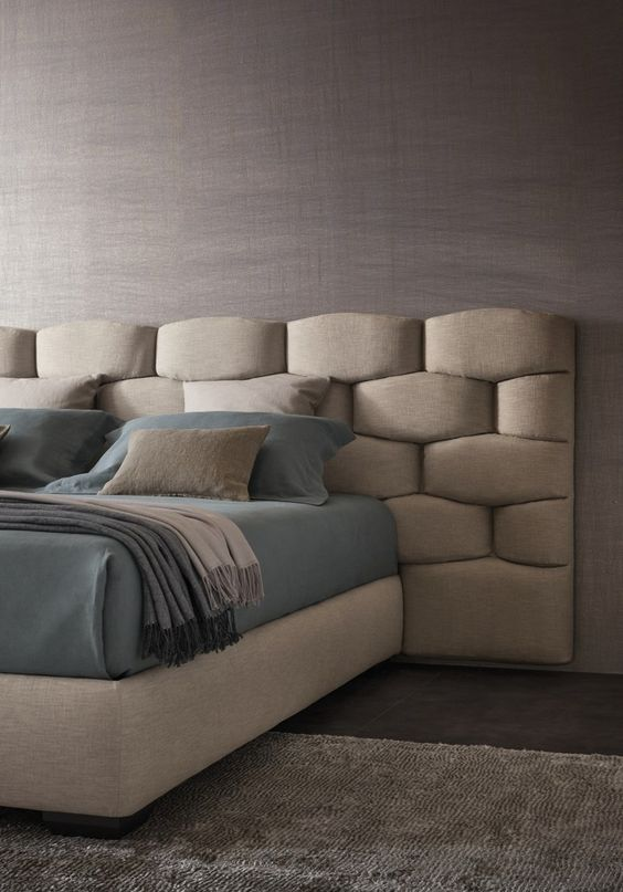 padded upholstered headboard