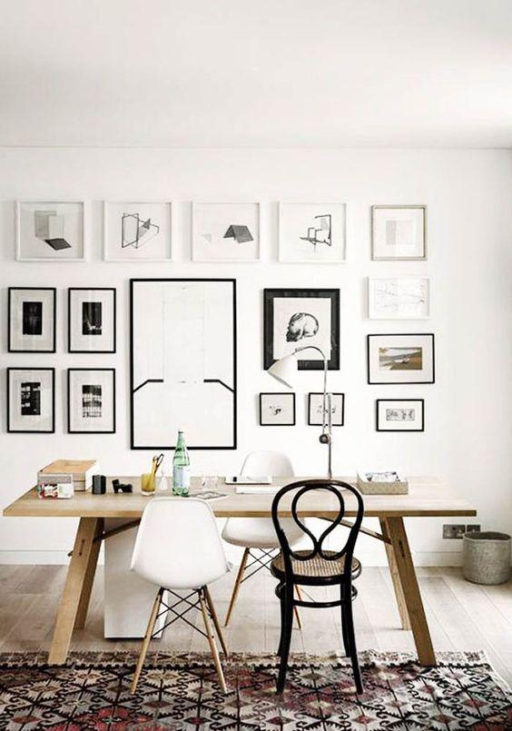 modern mismatching frames gallery