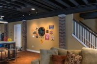 28 open exposed dark basement ceiling