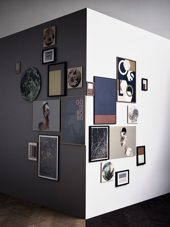 Picture Of Modern Corner Gallery Wall
