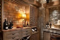 32 stone basement ceiling