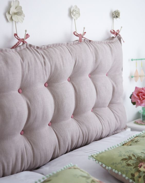 padded tufted headboard