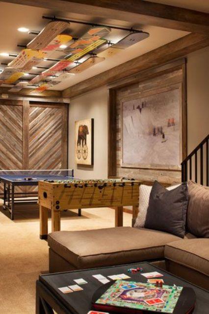 skateboard basement ceiling