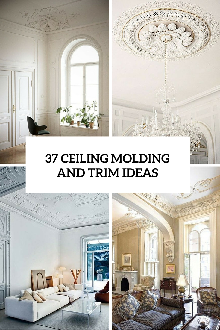 37 ceiling trim and molding ideas to bring vintage chic - Ceiling Molding Design Ideas