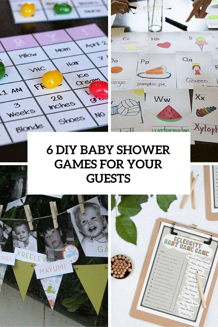 diy baby shower games