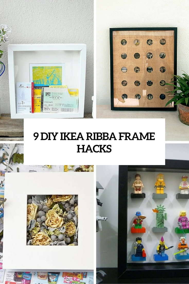 home decorating ideas picture frames - 9 DIY IKEA Ribba Frame Hacks That You Should Try Shelterness