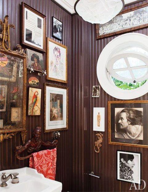 antique frames with artworks