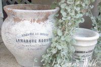 DIY French white wash pots