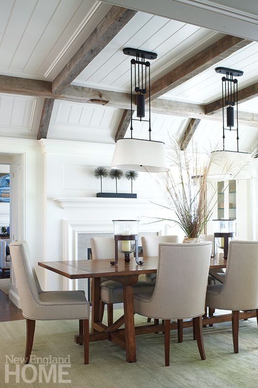 Bon Barnwood And White Coffered Ceiling For A Dining Room