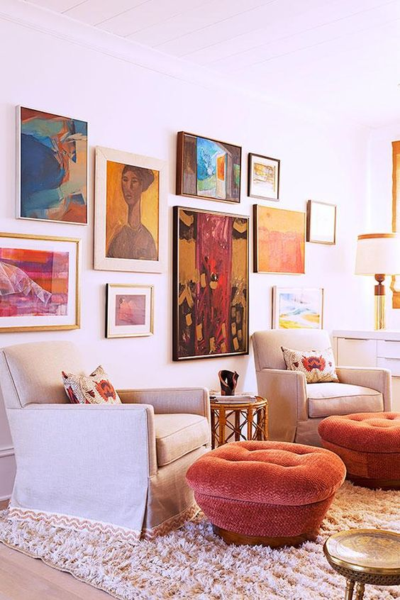 bold abstract painting gallery wall