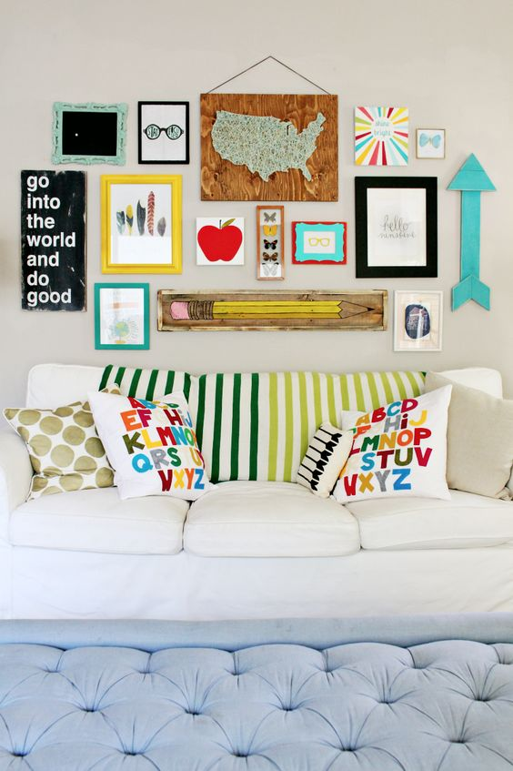 Wall hanging ideas for school the image for Back to school wall decoration