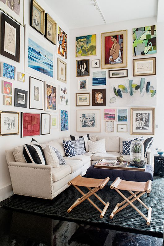 bold paintings gallery wall