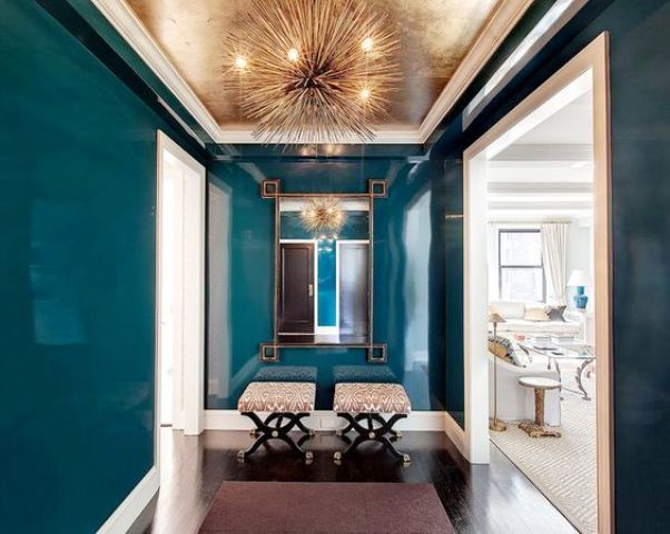 chic copper ceiling