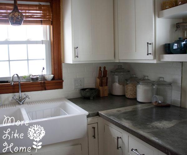 5 chic diy brick and faux brick kitchen backsplashes shelterness