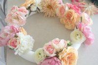 chic-diy-flower-and-greenery-wreath-3