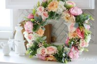 chic-diy-flower-and-greenery-wreath-4