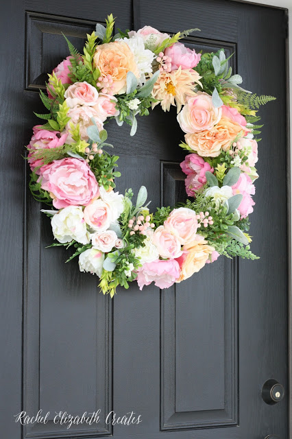 Chic Diy Flower And Greenery Wreath Shelterness