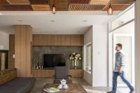 colored shutter wooden ceiling