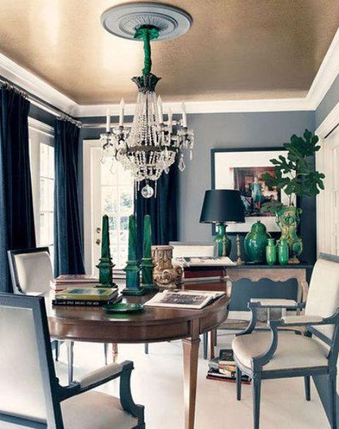 24 trendy modern metal ceiling d cor ideas shelterness for Metallic living room ideas