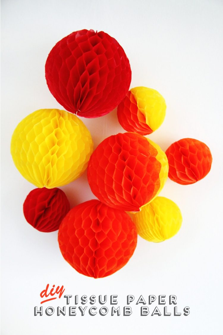 DIY tissue paper honeycomb balls (via gatheringbeauty)