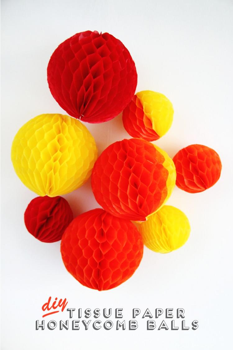 DIY tissue paper honeycomb balls