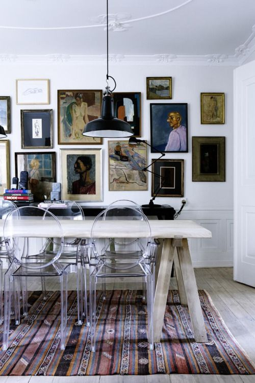 different vintage frame gallery wall