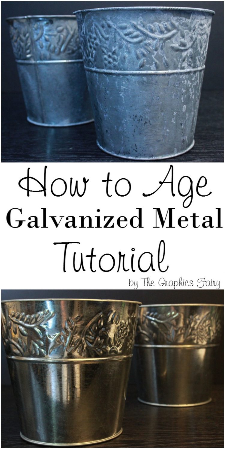 10 diy metal aging techniques with tutorials shelterness for Galvanized metal sheets for crafts