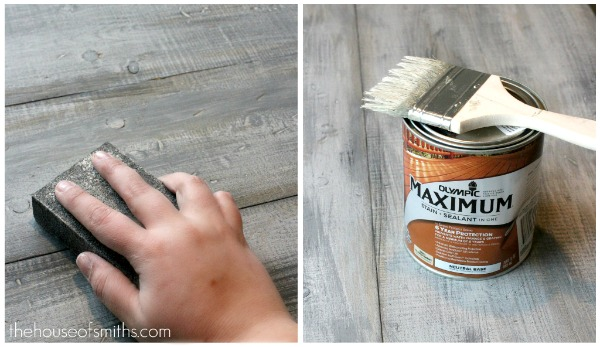 Simple Solution To Paint Any Wooden Surface Look Weathered Via Thehouseofsmiths