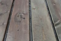 DIY weathered wood stain