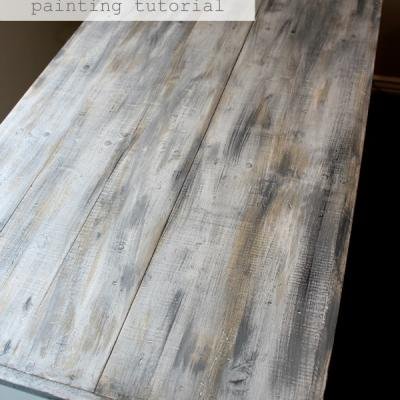 Faux Barn Wood Finish