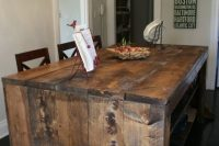 DIY faux reclaimed barn wood boards