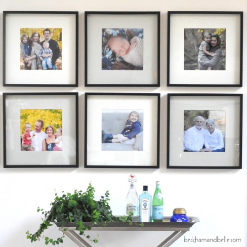black diy ikea ribba frame hack via shelterness