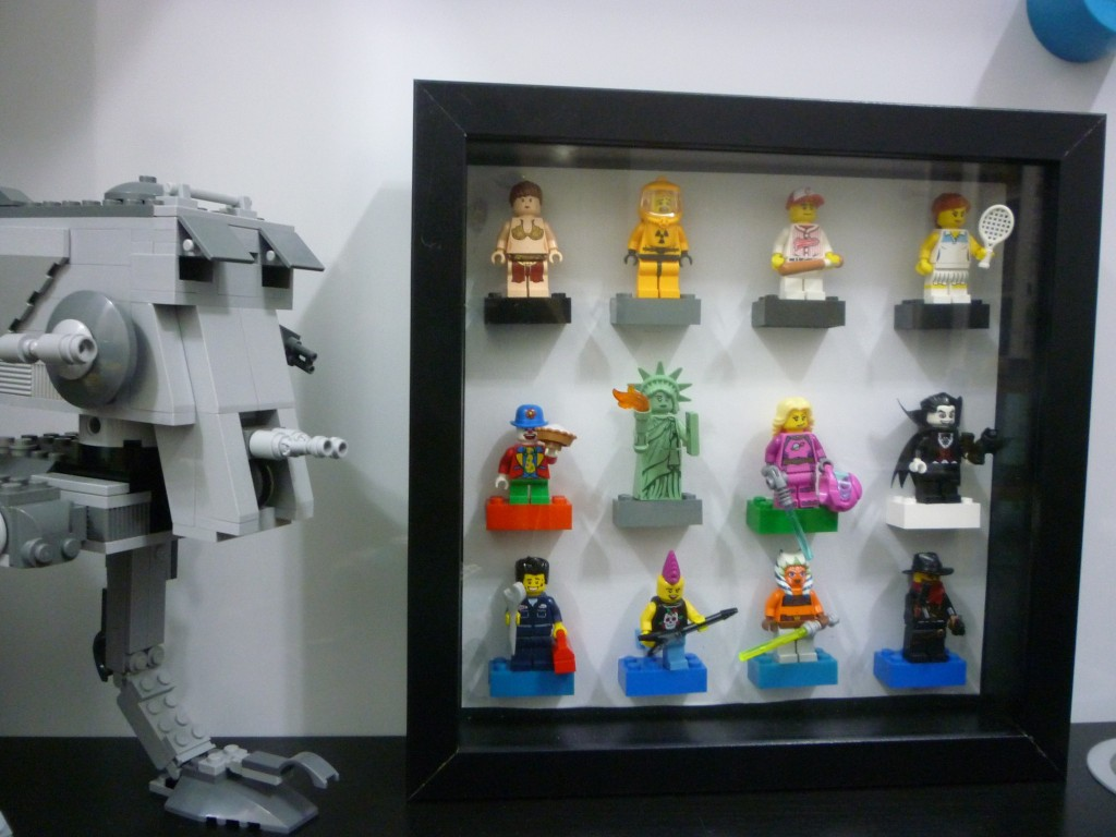 DIY IKEA Ribba Lego display