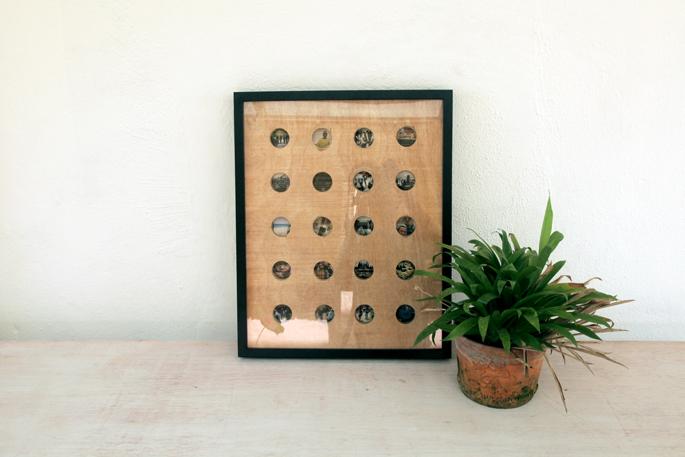 DIY Ikea Ribba cut out photo display