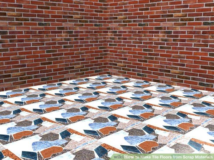 DIY tile floors from scraps (via wikihow)
