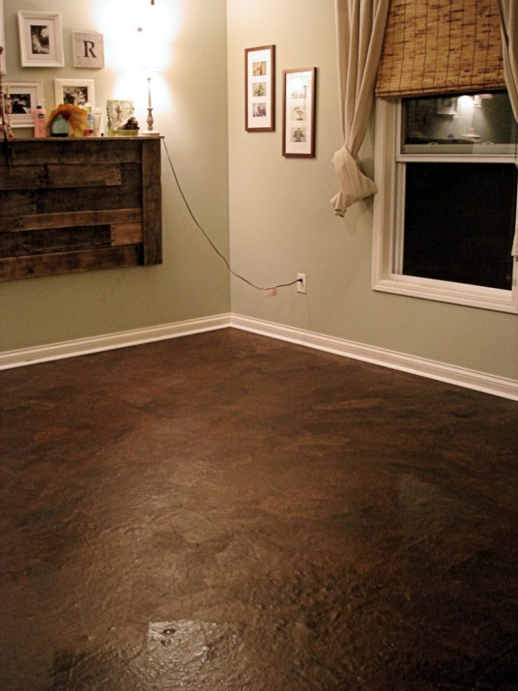 6 diy kitchen floors updates and renovations to try for Cheap diy flooring ideas