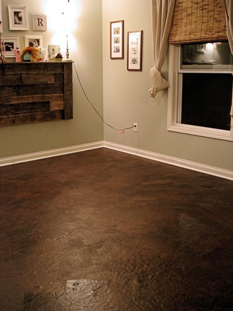 DIY brown paper flooring