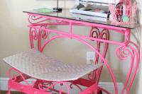 DIY forged pink vanity