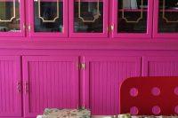 DIY fuchsia bookcase
